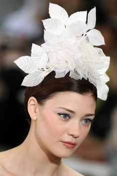 Caroline Herrera brides. Fairchild Archive. Hair and make-up inspiration http://www.vogue.com.au/brides/beauty/best+in+beauty+from+the+spring+summer+2013+bridal+shows,17589