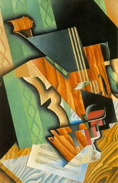 "Juan Gris ""Violin and Glass"", 1915 (Spain, Cubism, 20th cent.)"
