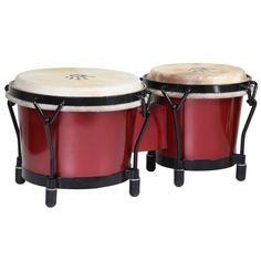 Red Shimmer Bongo Drums (Indonesia) - Overstock™ Shopping - Great Deals on X8 Drums Musical Instruments