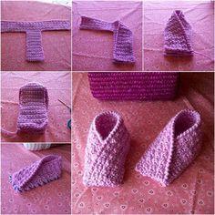 Sådan DIY Easy Strikket Toddler Slippers