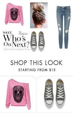 """""""Love is game..."""" by mirabellaa ❤ liked on Polyvore featuring Converse, Frame Denim and polyvorefashion"""