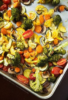 Roast some veggies to use in all of your meals throughout the week. | 17 Tricks To Help You Eat Healthy Without Even Trying