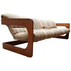 Image of 1970s Vintage Lou Hodges Modern Cantilevered Sofa
