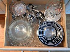 Kitchen Drawer Organization, Kitchen Drawers, Organization Hacks, Kitchen Storage, Food Storage, Cupboards, Organizing Ideas, Baking Storage, Storage Ideas