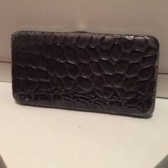 Grey crocodile wallet. Perfect wallet for night out with girls. Bags Wallets