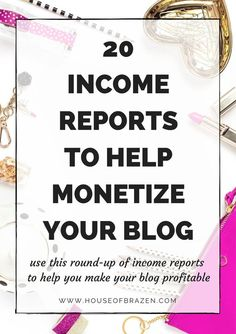 If you're a blogger, entrepreneur, mompreneur or small business owner who wants to learn how to monetize their blog, use this list of 20 Income Reports to Help Monetize Your Blog. Click here!