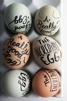 c3b15eb75b Good old sharpies  40 More Egg-cellent DIY Easter Egg Ideas via Brit + Co