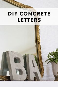DIY concrete letters | At Home in Love