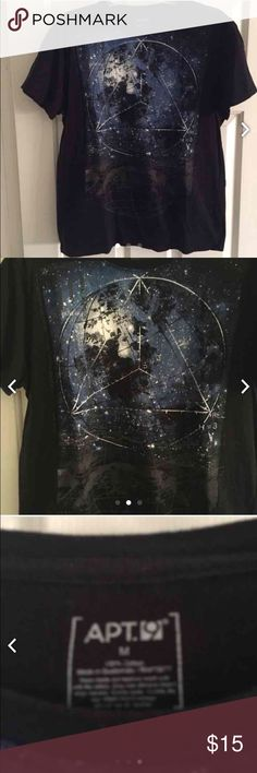 "💥💥MEN'S BLACK COSMIC TEE SHIRT💥💥 MEN'S PRELOVED ""STELLAR TEE SHIRT""💥💥 Apt. 9 Shirts Tees - Short Sleeve"
