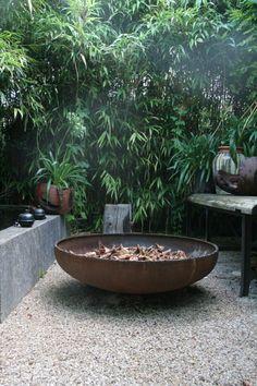 Vuurschaal ø 120 cm   Vuurschalen   Suasana Fire Bowls, Garden Seating, Garden Inspiration, Beautiful Gardens, Outdoor Gardens, Fountain, Garden Gear, Architecture, Places