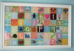 Paper quilt alphabet, this is pretty sweet, but I'm not wild about how whimsical it is...