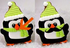 Every Christmas I make penguin cookies. This step by step tutorial will show you how to make sugar cookie penguins that are decorated with royal icing. Christmas Sweets, Christmas Love, Christmas Baking, Christmas Cookies, Xmas, Cute Cookies, Yummy Cookies, Penguin Cakes, Royal Icing Decorations