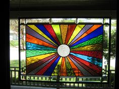 """""""Unlimited Color"""" Stained Glass Window Panel in Antiques, Architectural & Garden, Stained Glass Windows, Stained Glass Designs, Stained Glass Panels, Stained Glass Projects, Stained Glass Patterns, Mosaic Glass, Glass Art, Leadlight Windows, Window Panels, Colored Glass"""