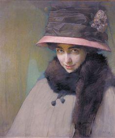 Alfred Eberling - Portrait of Ballerina Tamara Karsavina, 1911