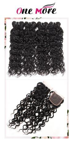 Malaysian Hair With Closure Natural Black Water Wave Remy Human Hair Weave 4 Bundles With 4X4 Lace Closure Best Human Hair Extensions For Black Women #hairbundles #besthairextensions