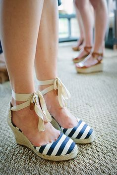 Navy and White Striped Espadrilles | Mark and Graham Party | Wynn Myers for Camille Styles