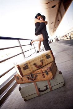 Travel Inspired Engagement Session from D. Park Photography  #engagement