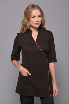 Chocolate Moon Tunic Spa Outfit, Women Wear, High Neck Dress, Dresses For Work, Tunic Tops, Moon, Chocolate, Lady, Outfits
