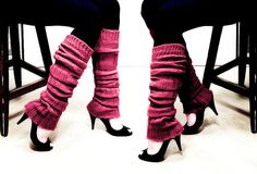 Love leg warmers with high heels! these would be great to wear with a mini skirt, shorts, or leggings. I absolutely love that the legwarmers have lots of texture, warmth and are not just flat...lots of scrunchy for lack of a better word.