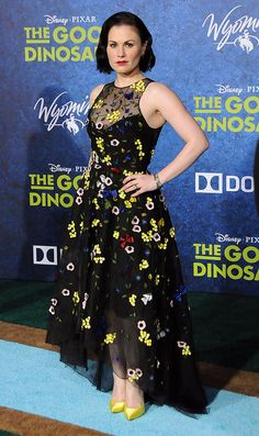 You Won't Believe What Haters Are Saying About Anna Paquin's Gorgeous Dress: When Anna Paquin showed up to the premiere of her new film, The Good Dinosaur, she reminded us of a modern-day Snow White.