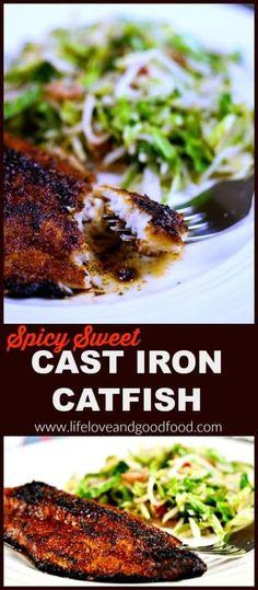 Blackened catfish over cajun rice recipe blackened catfish spicy sweet cast iron catfish spicy food recipesseafood forumfinder Gallery