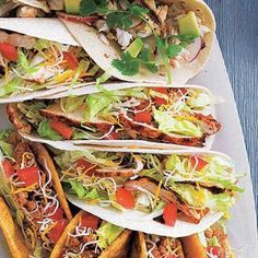 Quick and easy dinner idea: Santa Fe Grilled Chicken Soft Tacos