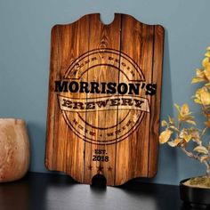 For the bar!!!!! Personalized Brewery Bar Sign, from HomeWetBar.com