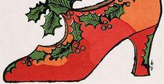 Andy Warhol's Christmas shoe, 1950s