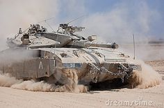 Merkava Tank of the Israeli Defence Force coming from the Gaza. Picture was taken August 2008
