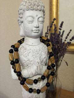 The Power of Now! Tiger Skin Jasper - Smoky Quartz and Black Tourmaline Stone Angel Healing Necklace!!
