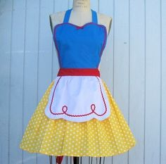 SNOW WHITE inspired retro APRON