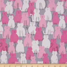 Here Kitty Kitty by Michael Miller in by osewcrazygalfabrics
