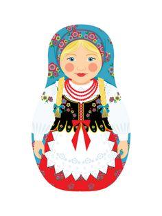 Polish Girl Matryoshka   by Amy Perrotti