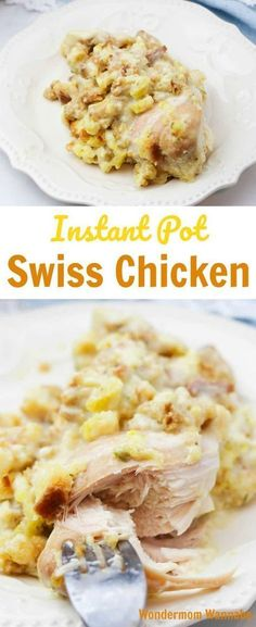 This Instant Pot Swiss Chicken is a family favorite and SO easy to make! #instantpotrecipes #pressurecooker #chicken #dinner