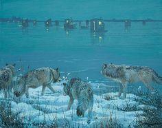 ICE SHANTY    Not Just Wildlife Art of John & Suzie Seerey-Lester