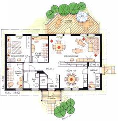 Schwedenhaus bungalow grundriss  Bungalow, Typ Bungalow 162 | Optik Bungalow | Pinterest ...