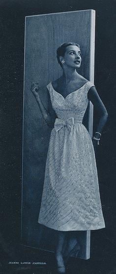 L`Officiel 1953    Summer evenings by Jeanne Lanvin /Castillo