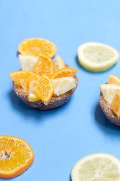 citrus cream tart - raw