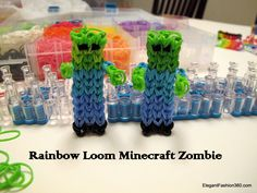 How to make Minecraft Zombie Rainbow Loom  Thought the boys might like this one!