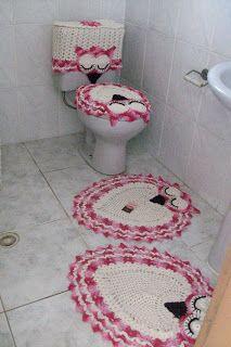 Sandra Roque Artesanatos: Jogo de banheiro coruja dorminhoca 4 peças