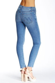 $196 NEW Mother Denim The High Waisted Looker in Strangers With Candy Size 28 in Clothing, Shoes & Accessories, Women's Clothing, Jeans   eBay