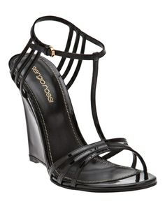 63d500d161b1 Sergio Rossi Strappy Wedge - Edon Manor - farfetch.com Gold High Heel  Sandals