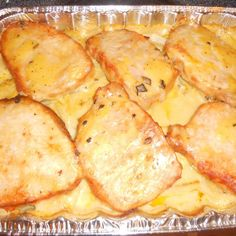 Pork Chop Potato Casserole.. I have been making this recipe for more than 20 years and it is delicious and easy and a great recipe to serve to company. Just add a vegetable and some bread and you have a wonderful meal.