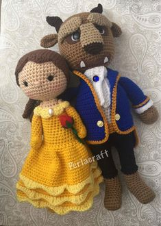 Amigurumi Beauty and the Beast