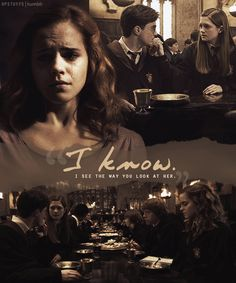 """I see the way you look at her."" —​ Hermione Granger (Harry Potter and the Half Blood Prince) Harry Potter Hermione, Harry Potter Film, Harry Potter Friendship, Harry And Ginny, Harry Potter Ships, Harry Potter Facts, Harry Potter Quotes, Harry Potter Love, Harry Potter Characters"