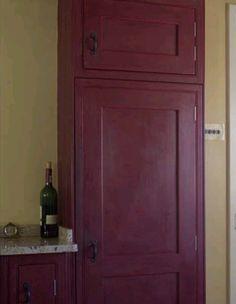 Annie Sloan chalk paint primer red. Dark wax