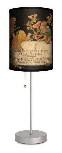 Vintage Labels - Eagle Clothing Co. Sport Silver Lamp, As Shown