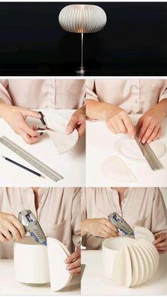 Lampe DIY mit Papptellern
