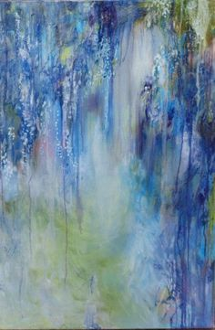 'Wisteria Etude' by Annie Flynn Painting Print on Canvas