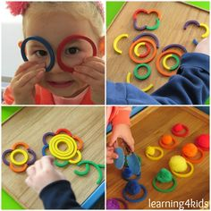 Takie zabawki wpływają na rozwój kreatywności oraz wyobraźni - koła o rozmiarach i kolorach